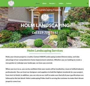 Holm Landscaping Homepage